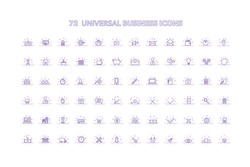 A set of  72 Universal Business Icons