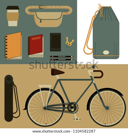 a set of various objects for
