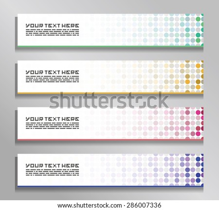 a set of vector banners