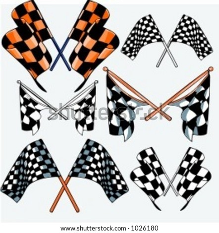 Auto Racing Flag on Of 6 Vector Illustrations Of Racing Flags    1026180   Shutterstock