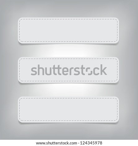 a set of vector paper banners