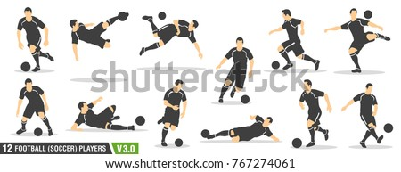 a set of vector set of football