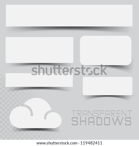 a set of vector transparent