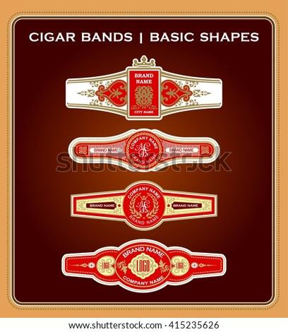 a set of vintage cigar bands