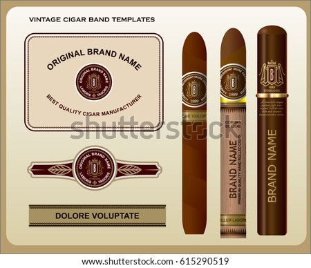 Cigar And The Labels Template Download Free Vector Art Stock - Cigar label template