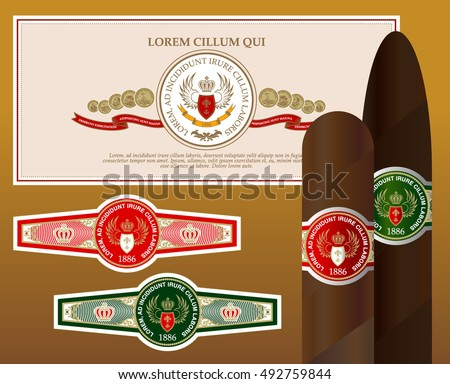 cigar and the labels template download free vector art stock