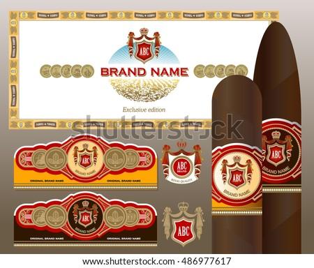 a set of vintage cigar labels