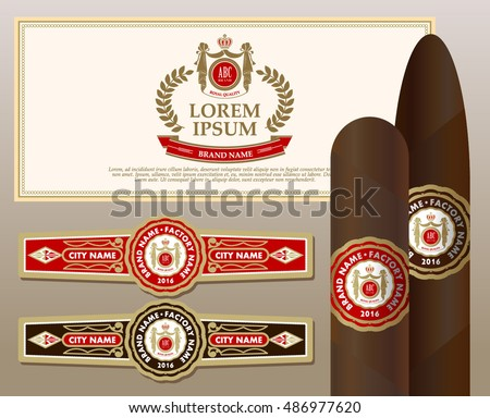 A set of vintage cigar labels