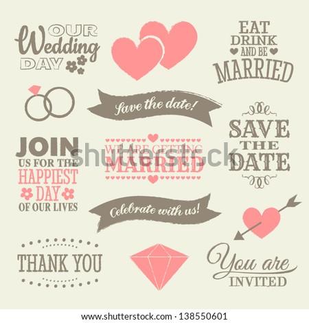 a set of wedding design