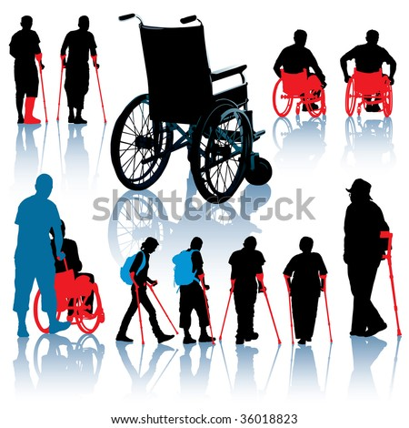 Senior people images, wheelchair people images, handicap or