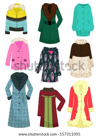a set of women's jackets  coats