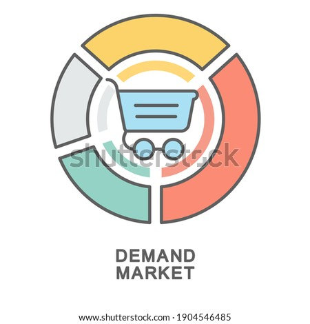 A shopping cart chart is the quantity of a product that can be bought in the consumer market at a strictly defined price, in a certain period of time. ストックフォト ©