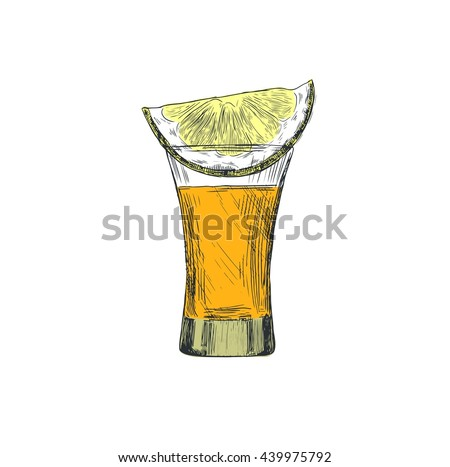 vector images  illustrations and cliparts a shot of tequila and a slice of lemon vintage Shot Glass Clip Art with Lime Silhouette Shot Glass