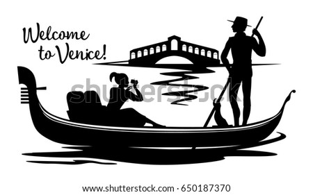 a silhouette cartoon drawing