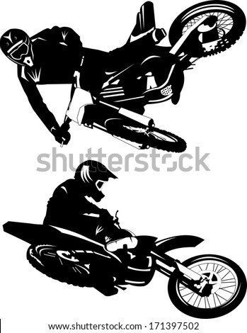a silhouette of a motorcycle