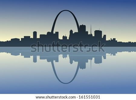 a silhouetted view of downtown