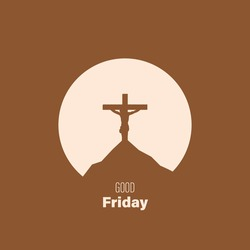 A simple card invitation, post card, banner, wallpaper, template, background and many more for good friday vector design.
