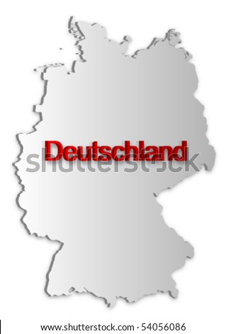 A simple 3D vector map of Germany.