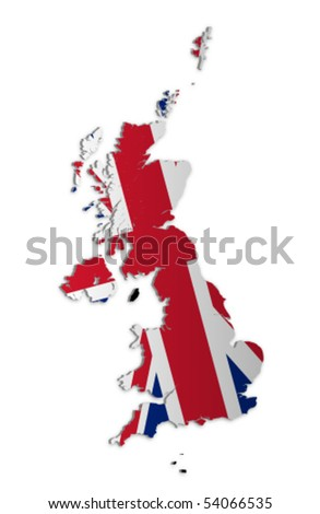 A simple 3D vector map of the UK and the Crown Dependencies.