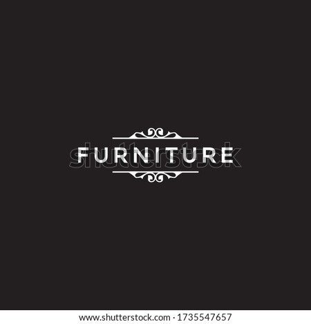 a simple Furniture wordmark logo design. Message us on Facebook / Instagram if you need our help to put your business name into the design, link on our profile