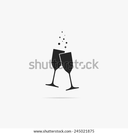 A simple icon of two glasses of champagne.