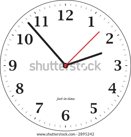 A simple illustrated clock for teaching the time