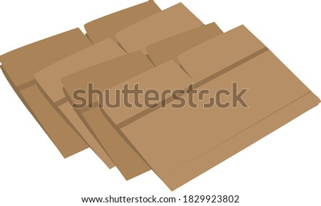 A simple illustration of folded cardboard boxes Photo stock ©