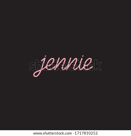 a simple jennie wordmark logo