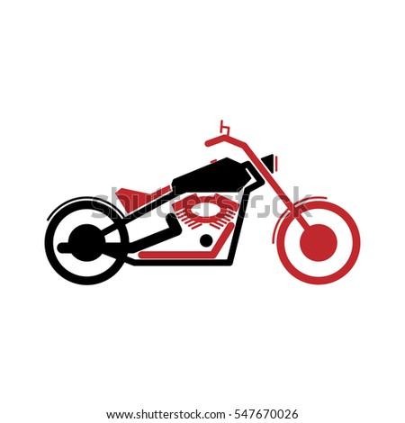 a simple logo motorcycle in