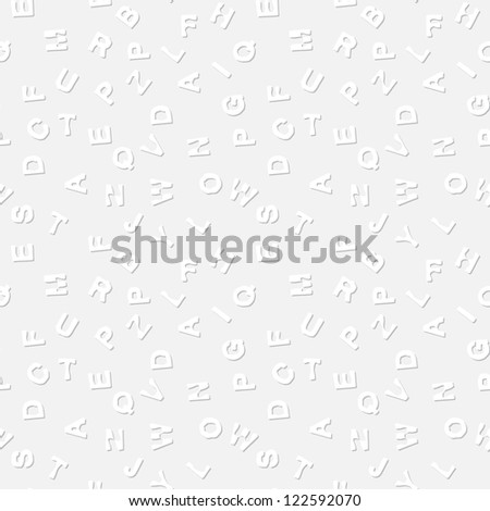 A simple, non-contrast vector texture - the letters on a light gray background