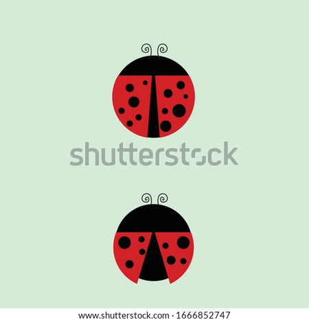 a simple vector ladybug with
