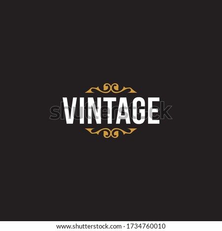 a simple Vintage wordmark logo design. Message us on Facebook / Instagram if you need our help to put your business name into the design, link on our profile