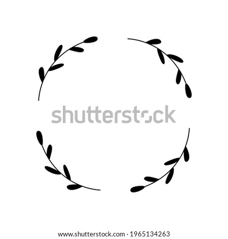a simple wreath with four
