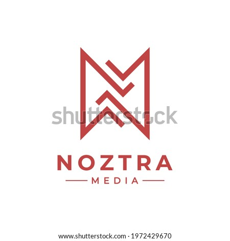 A simplified modified version of the letter N to give it a unique and distinct impression above the others. Foto stock ©