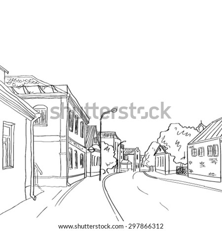 a sketch of the old town from