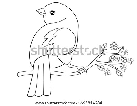 a small bird sits on a