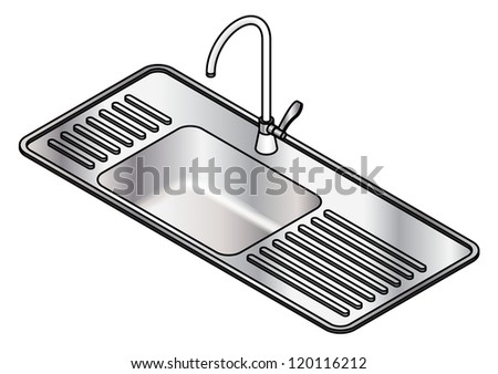 A small single bowl stainless steel kitchen sink with a swivel mixer tap.
