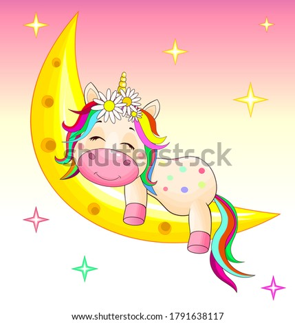 a small unicorn with a