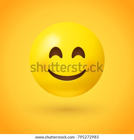 a smiling face emoji with