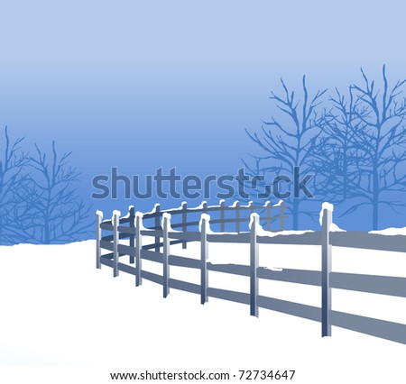 a  snow covered  scene