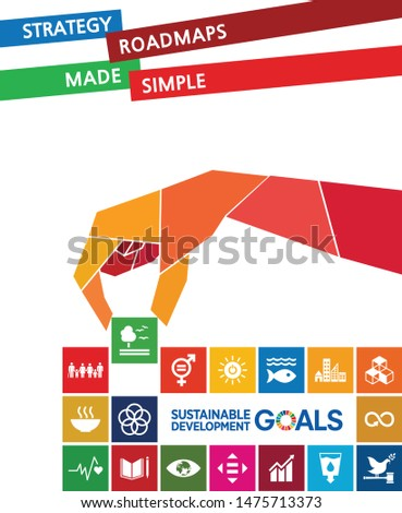 A social hand solving puzzle. Sustainable Development Goals - the United Nations. SDG.