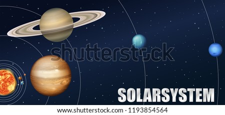 A solar system astronomy  illustration