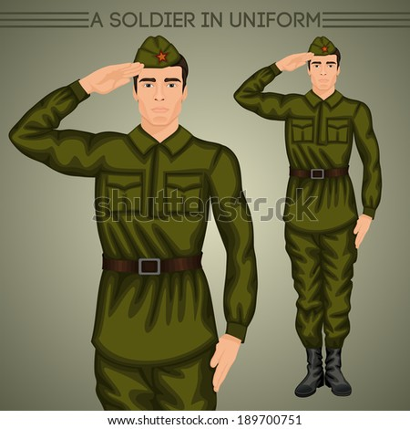 a soldier in uniform