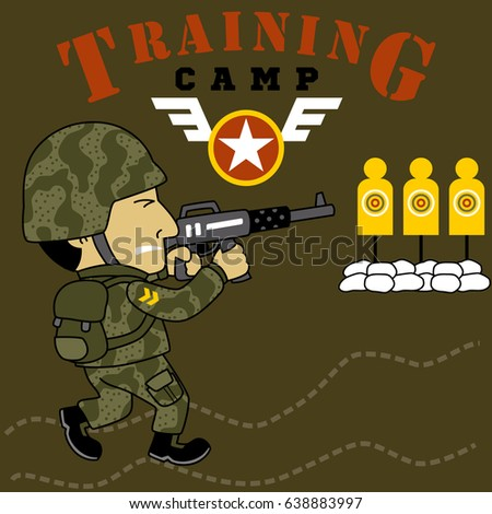 a soldier on military training