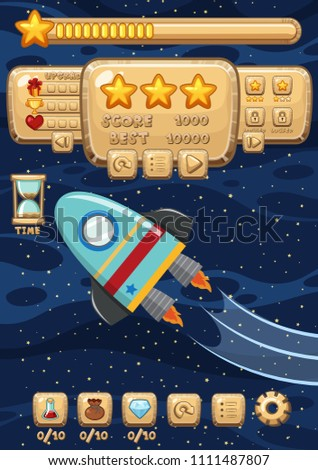 A Space Rocket Game Template illustration