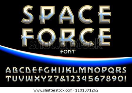 a space themed vector font or
