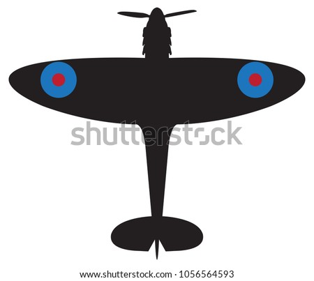 a spitfire plane silhouette