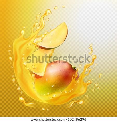 a splash of juice with mango