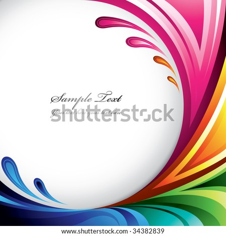 A splash of various colors - Background design for your text. Find more colorful illustrations in my portfolio
