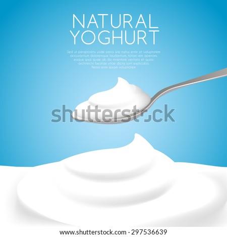 a spoon of natural yogurt